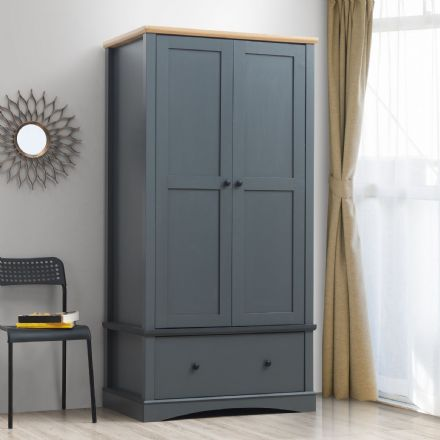 Carden Grey 2 Door Wardrobe